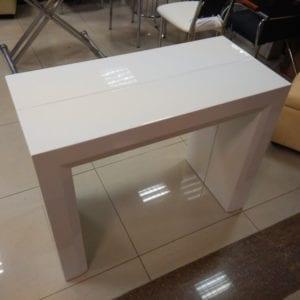 Стол-консоль (трансформер) B2307 белый лак
