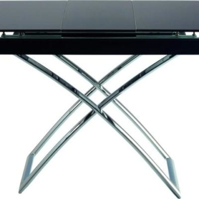 Стол-трасформер B2275 коричневое стекло