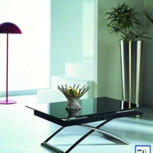 Стол-трасформер B2275 черное стекло