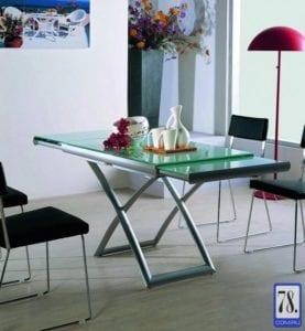Стол-трасформер B2293 белое стекло