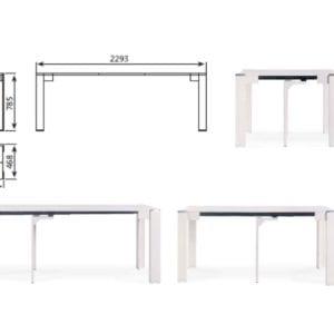 Схема стол-консоль В2370