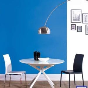 Стол раскладной В2380 белое стекло