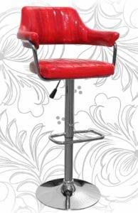 Барный стул HC-5019 красный крокодил