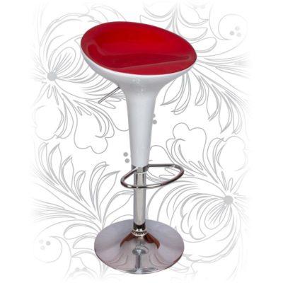 Барный стул HC-1000 бело-красный