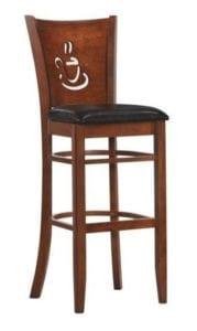Барный крутящийся стул LMU-9131 шоколад.