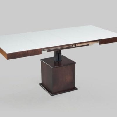Стол-трансформер Optimata 302 SB, белое стекло, каркас венге классика №13