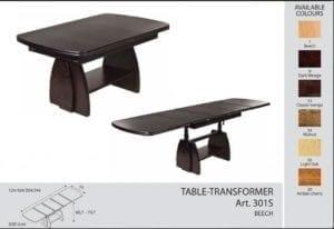Стол-трансформер Optimata 301 S