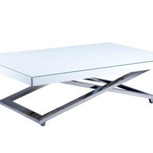 Стол t-glass белое стекло