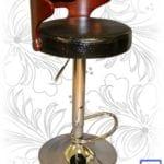 Барный стул LMZ-1018 черный крокодил