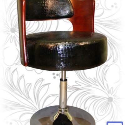 Барный стул LMZ-5388 черный крокодил