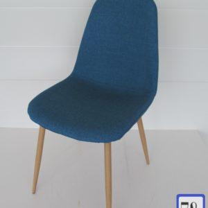Стул обеденный А178 текстиль, синий (джинс)
